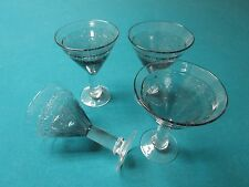 BUBBLES 4 Martini Glasses San Miguel Glassware by Jay Weberling  [G-1]