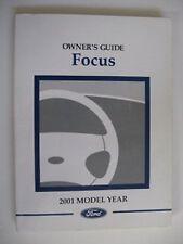 2001 FORD FOCUS OWNERS OPERATORS MANUAL FOR GLOVE BOX NICE ORIGINAL