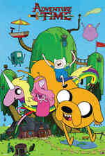 With Finn /& Jake Fabric Art Silk Poster 13x20 24x36 inch J642 Adventure Time