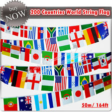 "Sale! 200 Countries World String Flag 50M(164ft), Bar Decor, 5.51""x 7.87"""