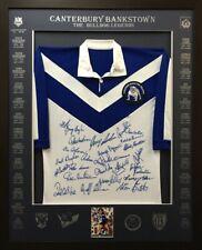 Blazed In Glory - Canterbury Bankstown Bulldogs Legends - NRL Framed Jersey