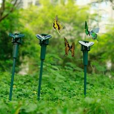 Solar Fluttering Butterfly , Yard Garden Stake , Solar/Battery Powered