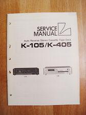 Luxman   K-105/K-405   Service Manual