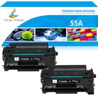 2PK Black Toner Compatible for HP 55A CE255A LaserJet P3015 P3015d P3016 P3015n