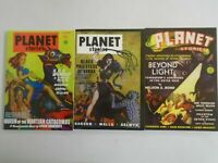 Planet Stories TPB lot 3 different pulp books SC 8.0 VF