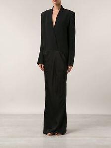 HAIDER ACKERMANN Black Crepe and Satin Gown Maxi Dress **£1795.00**