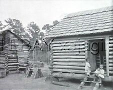Georgia Thomasville, African American Huts, Large Antique 1890s Print