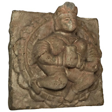 Rare Architectural 18th Century French Sculpture Carved Stone King Corbel Plaque