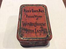 Vintage Westinghouse Mazda Lamps Tin