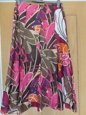 Multi Coloured Panelled Skirt Wash and Twist by Principles Size 14