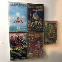Iron Maiden Cassette Lot!! Live After Death # Of The Beast Killers Somewhere!!