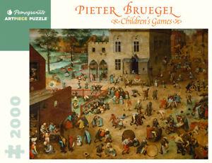 "Pomegranate  -  Bruegel: ""Children's Games"" -  2000 piece Fine Art Puzzle NEW"