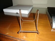 Gold Plate Stand--Easel Display Metal-Twist Wire Design 9 total