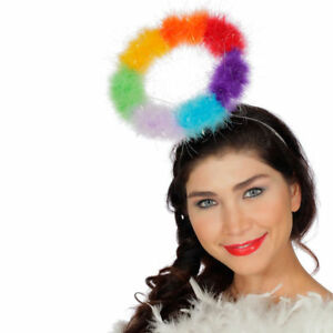 NEU Haarreif Regenbogen Heiligenschein