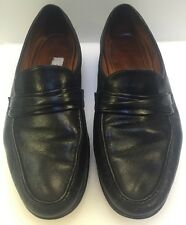 Allen Edmonds Bergamo Dress Slip On Loafers Black Italy Made Men's 9.5 D 49010