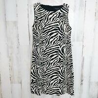 Banana Republic Linen Dress Women's Size 2 Sleeveless Zebra Print