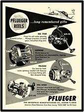Enterprise Mfg. Co. New Metal Sign:  Pflueger Reels, Sea Star, Sea King, Pelican