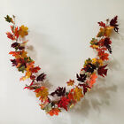 Halloween Led Lights Autumn Fall Maple Leaves Garland Hanging Plant Home Decor