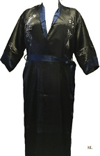 Peignoir Kimono tunique soie réversible  dragon homme femme GRANDE TAILLE 44 48