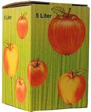 (0,85€/1Stk) 50Stück 5 Liter Bag in Box Karton in Apfeldekor