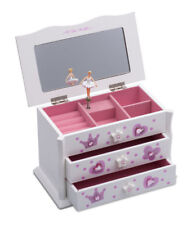 White Ballet Dance Wooden Jewellery Box By Katz Christmas Birthday Present JB03