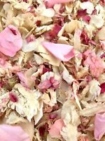 Real PINK ROSE Petals IVORY Biodegradable Throwing Wedding Confetti Flutter Fall