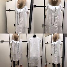 Eileen Fisher PL Handkerchief Linen White Utility Cache Coeur Wrap V Neck Top