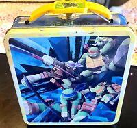 Teenage Mutant Ninja Turtles Tin Tote Metal Lunchpail TMNT Lunch Box