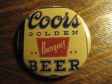 Coors Beer Pin - RePurposed Retro Golden Bottle Logo Advertisement Lapel Button