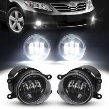 Pair Led Fog Lights Bumper Driving Lamps For Toyota Corolla Camry Lexus Avalon