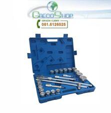 "Kit Bussole 22 pezzi 3/4"" c/chiave a cricchetto e barra a T portabussole Mod. B"