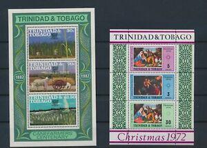LN82430 Trinidad & Tobago christmas canefarmers sheets MNH