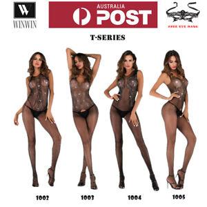 New T-Series Women Sexy Lingerie Nightwear Sleepwear Leotard Bodysuit Stockings