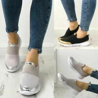 Womens Breathable Slip On Sneakers Trainers Ladies Running Walking Pumps Shoes