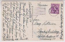 Bizone/AM-Post, 15b EF, Hamburg, MS, 13.5.46