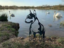 More details for english bull terrier dog rusty metal animal garden art
