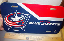 Columbus Blue Jackets NHL hockey team plastic License Plate, made in the USA