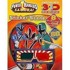 Power Rangers: Samurai 3-d Never Seen Before! Sticker Scene Parragon (Corporate