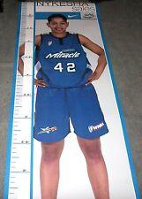 NYKESHA SALES Signed Autographed WNBA Orlando Miracle Lifesize Poster UConn