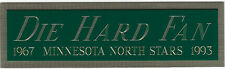 MINNESOTA NORTH STARS NAMEPLATE FOR AUTOGRAPHED Signed STICK-PUCK-JERSEY-PHOTO