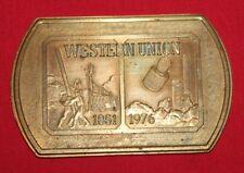 Western Union Belt Buckle Prototype 1851 - 1976
