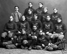 Photograph Michigan College Football Players Year 1897   8x10