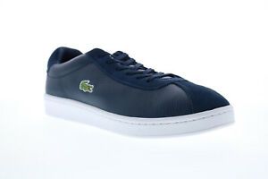 Lacoste Masters 119 2 Mens Blue Leather Lace Up Lifestyle Sneakers Shoes