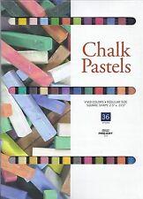 CHALK PASTELS 36 COLORS! ~ SOFT PASTEL SET ~ NEW!