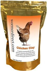 Chicken Clay 1kg, Chicken Feed Supplement, for Healthier Poultry