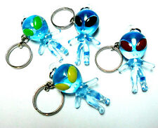 2 pc Blue Alien Key Chain Figure Funny Toy Pinata Birthday Party Favor Loot Game