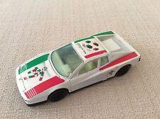 MODELLINO AUTO FERRARI TESTAROSSA SCALA 1/43 BBURAGO MONDIALI CALCIO ITALIA 90