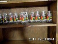 COMMEMORATIVE 1984 16 OZ. PEPSI GLASSES SET OF 11  WE WISH YOU A MERRY CHRISTMAS