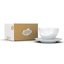 Fiftyeight TV Kaffee Tee Tasse Unterteller weiß Lecker  NEU OVP Hartporzellan