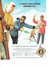 PUBLICITE ADVERTISING 126  1957  Anoraks vetements ski Popeline d'Alsace